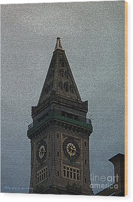 Wood Print featuring the photograph Textured Church Steeple  by Gena Weiser