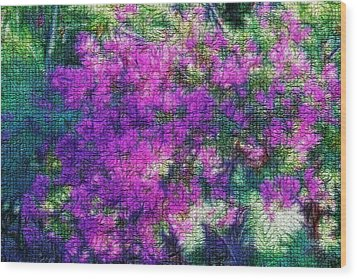 Textured Floral Abstract Wood Print by Linda Phelps