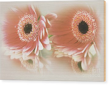Textured Floral Artwork Wood Print