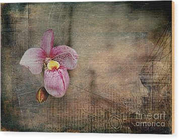 Wood Print featuring the photograph Textured Orchid by Vicki DeVico