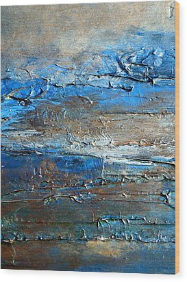 Textured Original Abstract Dune Wood Print