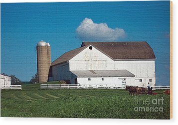 Wood Print featuring the photograph Textured - Plowing The Field by Gena Weiser