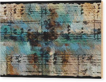 Wood Print featuring the digital art Textured Turquoise by Lon Chaffin