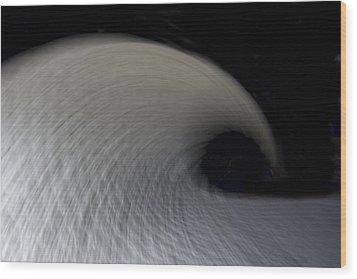 Textured Vortex Wood Print by Sean Davey
