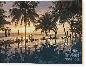 Thai Sunset Wood Print