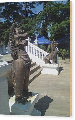 Thai Temple Steps Wood Print