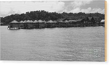 Wood Print featuring the photograph Thai Village by Andrea Anderegg