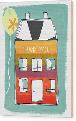 Thank You Card Wood Print by Linda Woods
