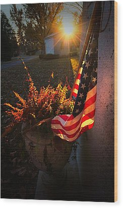Wood Print featuring the photograph Thank You For Serving by Robert McCubbin