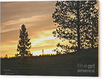 Thank You My Lord For Blessing Me -  Thank You My Lord For A Beautiful Landscape - Amen. Wood Print by  Andrzej Goszcz