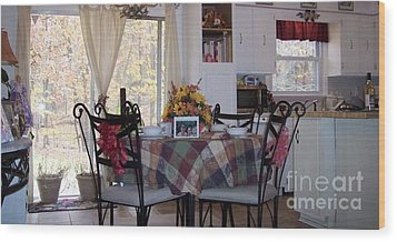 Thanksgiving 2010 By Angelia H Clay Wood Print