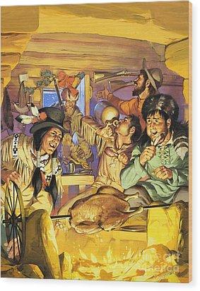 Thanksgiving Wood Print by Angus McBride
