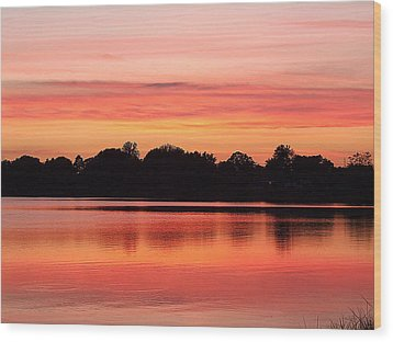Wood Print featuring the photograph Thanksgiving Evening 001 by Chris Mercer