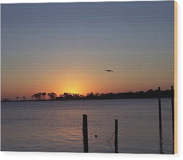 Wood Print featuring the photograph Thanksgiving Sunrise by Michele Kaiser