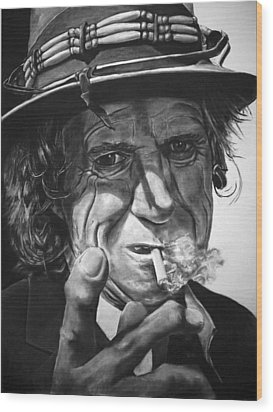 That Guy Looks Like Keith Richards Wood Print
