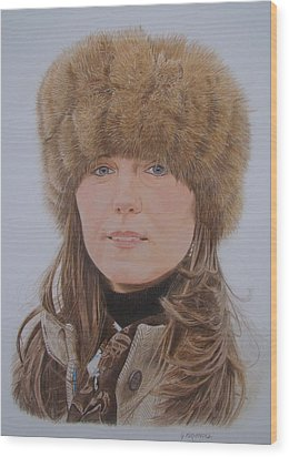 That Hat Wood Print by Gary Fernandez