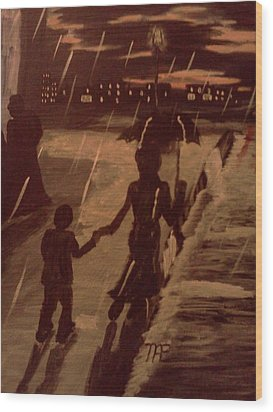 That  Rainy Night  Wood Print by Renee McKnight