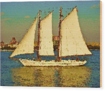 That Ship Wood Print by Alice Gipson