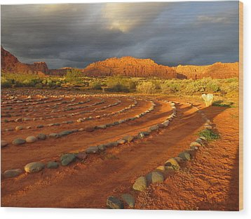 Wood Print featuring the photograph St George, Utah by Jean Marie Maggi