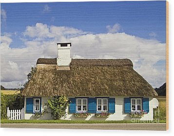 Thatched Country House Wood Print by Heiko Koehrer-Wagner