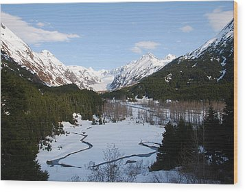 Thawing Mountain Stream Wood Print