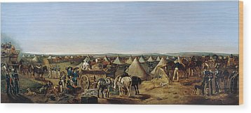 The 10th Regiment Of Dragoons Arriving Wood Print by A.E. Eglington