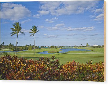 The 18th Green At Ocean Club Golf Course Wood Print