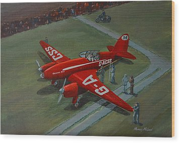 Wood Print featuring the painting The Great Air Race by Murray McLeod