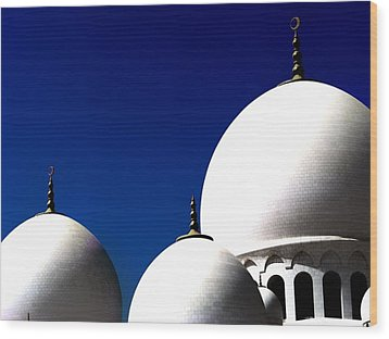 The 3 Domes Wood Print by Peter Waters