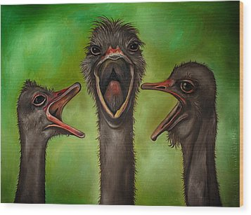 The 3 Tenors Edit 2 Wood Print by Leah Saulnier The Painting Maniac