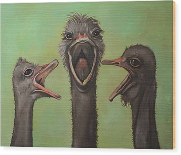 The 3 Tenors Wood Print by Leah Saulnier The Painting Maniac