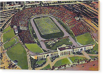 The 33rd Street Stadium In Baltimore Md Around 1940 Wood Print by Dwight Goss