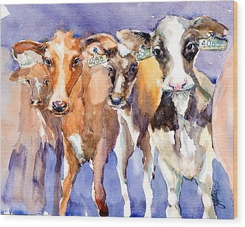 The 408 Girls Wood Print by Judith Levins