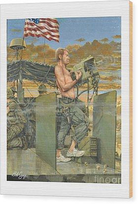 The 458th Transortation Co. In Vietnam. Wood Print by Bob  George