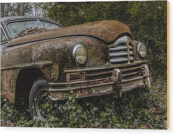 The 48 Packard Wood Print