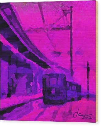 The 7am Train Tnm Wood Print by Vincent DiNovici