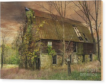 The Abandoned Barn Wood Print