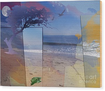 The Abstract Beach Wood Print by Bedros Awak