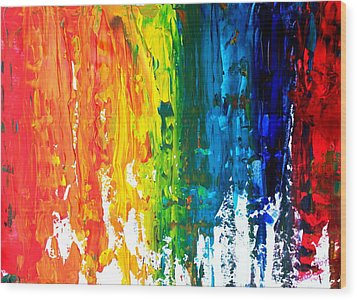 The Abstract Rainbow Beach Series I Wood Print by M Bleichner