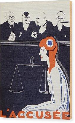 The Accused Wood Print by Paul Iribe