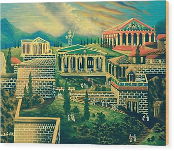 The Acropolis Wood Print