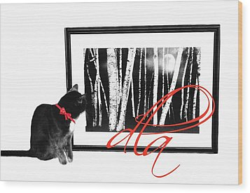 The Capture Wood Print by Diana Angstadt
