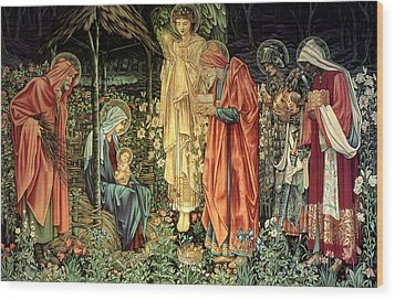 The Adoration Of The Kings Wood Print by Bradley Skeen