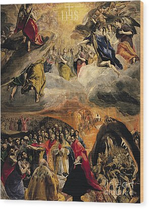 The Adoration Of The Name Of Jesus Wood Print by El Greco Domenico Theotocopuli
