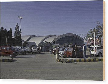The Airport In Srinagar The Capital Of Jammu And Kashmir Wood Print by Ashish Agarwal