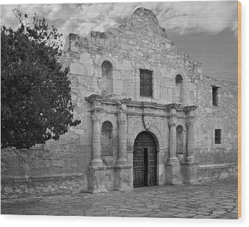 The Alamo Wood Print by David and Carol Kelly
