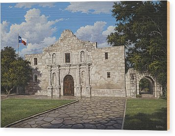 The Alamo Wood Print by Kyle Wood