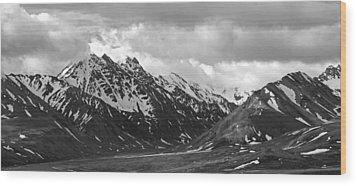 The Alaskan Range Wood Print