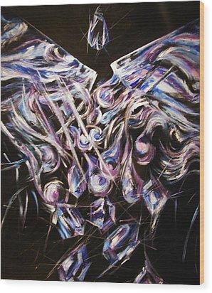 The Alchemist Wood Print by Karen  Ferrand Carroll