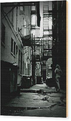 The Alleyway Wood Print by Michelle Calkins